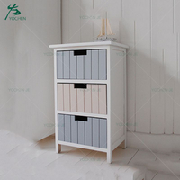 Home furniture modern 3 layer wooden shoe cabinet