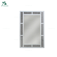 Diamond Crush Crystal Dressing Room Decorative Wall Mirror