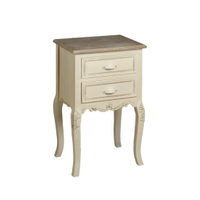 Bedroom furniture handmade 2 drawer nightstands antique wooden bedside table