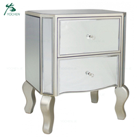 Solid wooden furniture bedroom nightstand antique mirror bedside table