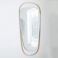 Home Decor Gold metal art wall mirror decorative