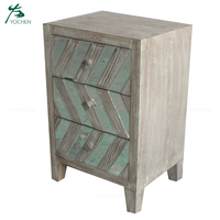 3 drawers mirrored bedroom furniture bedside table night stand