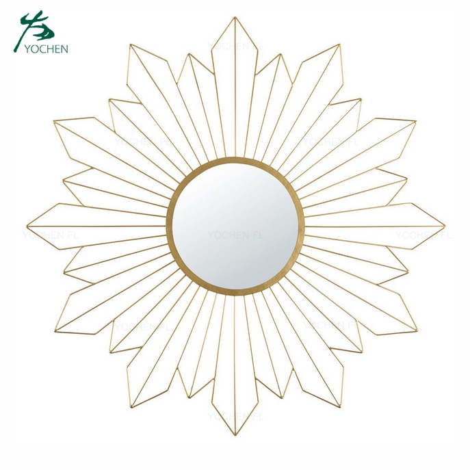 modern bedroom mirror waterproof durable metal frame mirror