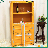 Germany Industrial Double Door Wine Wood Display Cabinet