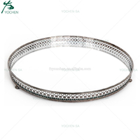 Round Mirror Candle Plate Tray Wedding Decors
