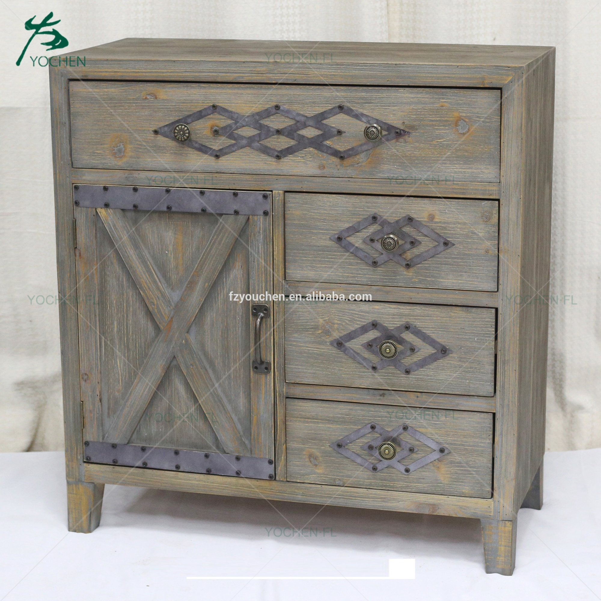 home design furniture cheap antique solid wooden storage cabinet