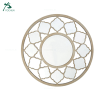 Antique French Style Round Wall Decorative Mirror