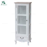 french provincial furniture wood display cabinet