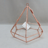 rose gold wedding candlestick geometric decorative candleholder