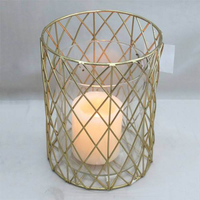 Weddings use handmade metal gold tealight candle holder