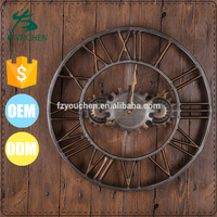Vintage Industrial Gear Round Clock Wall Decors