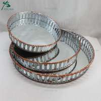 Vintage Effect Decorative Metal Serving Tray