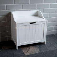 new storage chest cabinet white wood basket laundry bin