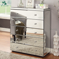 Storage furniture mirroerd glass cabinet