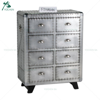 Vintage Industrial Storage Furniture Metal Cabinet Retro Drawers