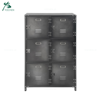 living room design modern storage 6 door metal cabinet