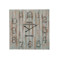 Antique vintage handmade wood wall clock