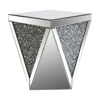 living room cabinet Modern crushed diamond furniture side table modern coffee table