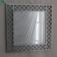 Classical design home wall square mirror metal frame
