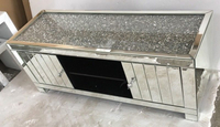 Diamond crushed furniture mirrored tv cabinet